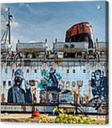 The Duke Of Graffiti Acrylic Print by Adrian Evans