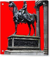 The Duke Of Wellington Red Acrylic Print by John Farnan