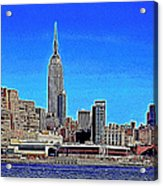 The Empire State Building And The New York Skyline 20130430 Acrylic Print by Wingsdomain Art and Photography