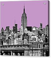The Empire State Building Pantone African Violet Light Acrylic Print by John Farnan