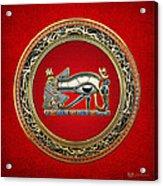 The Eye Of Horus Acrylic Print by Serge Averbukh