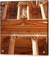 The Facade Of Al Khazneh In Petra Jordan Acrylic Print by Robert Preston