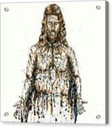 The Faces Of  Body Of Jesus Christ Acrylic Print by Thomas Lentz