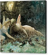The Fairies From William Shakespeare Scene Acrylic Print by Gustave Dore