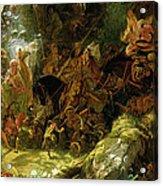 The Fairy Raid Acrylic Print by Sir Joseph Noel Paton