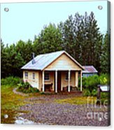 The Famous Cabin Of Fannie Quigley Acrylic Print by Kathy  White