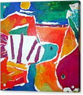 The Fish In The Sea Acrylic Print by Diane Fine