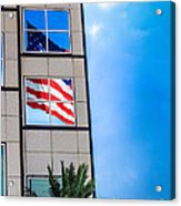 The Flag That Never Hides Acrylic Print by Rene Triay Photography
