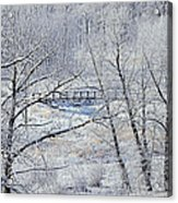 The Frozen Bridge Acrylic Print by Maria Angelica Maira