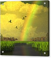 The Gift Of Light Acrylic Print by Dieter Carlton