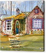 The Gingerbread House Acrylic Print by Kris Parins