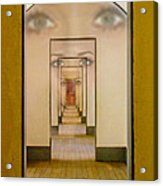 The Girl With Far Away Eyes Acrylic Print by Bill Gallagher