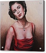 The Glamour Days Elizabeth Taylor Acrylic Print by Andrew Read
