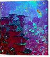 The Glimmering Deep Acrylic Print by Wendy J St Christopher