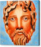 The God Jupiter Or Zeus.  Acrylic Print by Augusta Stylianou