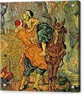 The Good Samaritan After Delacroix 1890 Acrylic Print by Vincent Van Gogh