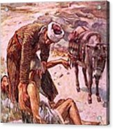 The Good Samaritan Acrylic Print by Harold Copping