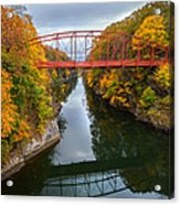 The Gorge Square Acrylic Print by Bill Wakeley