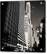 The Grace Building And The Chrysler Building - New York City Acrylic Print by Vivienne Gucwa