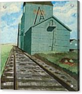 The Grain Elevator Acrylic Print by Anthony Dunphy