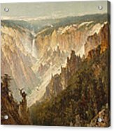 The Grand Canyon Of The Yellowstone Acrylic Print by Thomas Hill