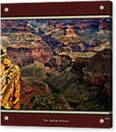 The Grand Canyon Acrylic Print by Tom Prendergast
