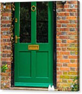 The Green Door Acrylic Print by Mark Llewellyn