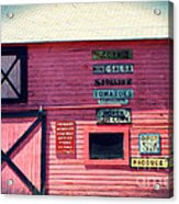 The Grocery Store Acrylic Print by Sophie Vigneault