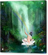 The Healing Place Acrylic Print by Carol Cavalaris