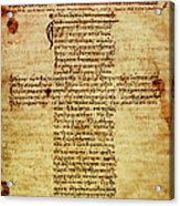 The Hippocratic Oath - Facsimile Acrylic Print by Li   van Saathoff