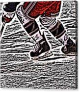 The Hockey Player Acrylic Print by Karol Livote