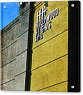 The Hollywood Heights Hotel Acrylic Print by Janice Rae Pariza