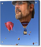 The Hot Air Surprise Acrylic Print by Mike McGlothlen