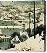 The Hunters In The Snow Acrylic Print by Jan the Elder Brueghel