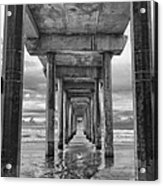 The Iconic Scripps Pier Acrylic Print by Larry Marshall