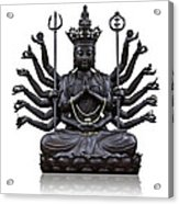 The Images Of Guanyin Black Acrylic Print by Tosporn Preede