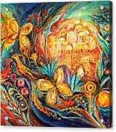 The Key Of Jerusalem Acrylic Print by Elena Kotliarker