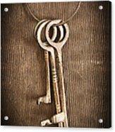 The Keys Acrylic Print by Edward Fielding