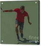 The King Of Tennis Acrylic Print by Terry Cosgrave