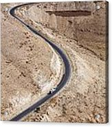 The King's Highway At Wadi Mujib Jordan Acrylic Print by Robert Preston