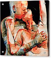 The Kiss Acrylic Print by Graham Dean