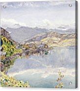 The Lake Of Lucerne, Mount Pilatus Acrylic Print by John William Inchbold