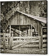 The Last Barn Acrylic Print by Joan Carroll