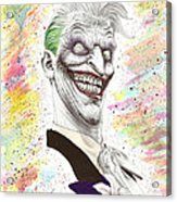 The Laughing Man Acrylic Print by Wave