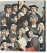 The Lecture, Illustration From Hogarth Acrylic Print by William Hogarth
