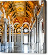 The Library Acrylic Print by Greg Fortier