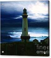 The Lighthouse Acrylic Print by Cinema Photography