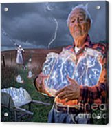 The Lightning Catchers Acrylic Print by Bryan Allen