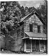 The Local Haunted House Acrylic Print by Heather Applegate