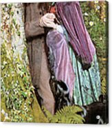 The Long Engagement Acrylic Print by Arthur Hughes